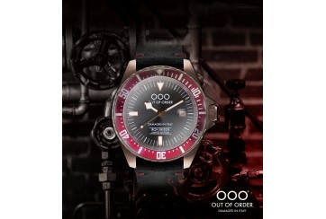Red & Grey Automatico by Iron Bridge Watches USA